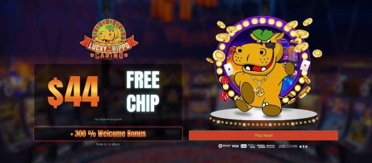 Lucky Hippo Casino Free Chip bonus code FPC44
